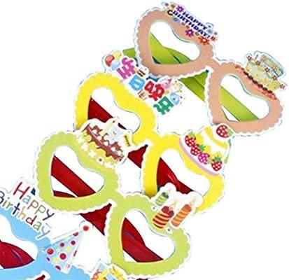 TOYANDONA - 12 copas de fiesta de cumpleaños redondas con ...