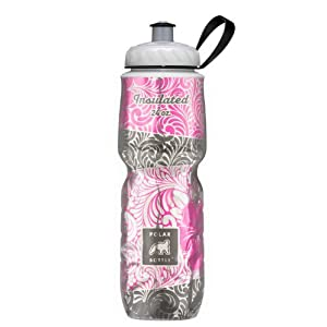 Polar Bottle Insulated Water Bottle (Island Blossom) (24 oz) - 100% BPA-Free Water Bottle - Perfect Cycling or Sports Water Bottle - Dishwasher & Freezer Safe