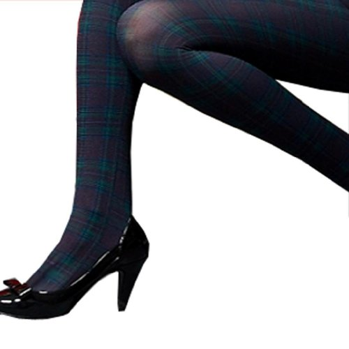 Pattern Opaque Stockings Tights colorsXS