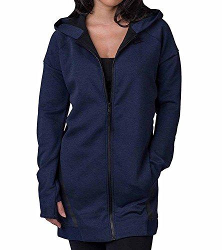 Nike Womens Tech Fleece Mesh Cocoon Jacket Blue (X-Large)