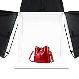LimoStudio 20 inch x 20 inch Photography Photo Studio Square Light Box Tent with 4 Colors Backdrops (Red / Blue / Black / White) for Photography, AGG322