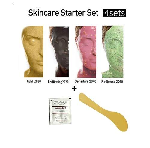 CASMARA Mask Premium Package : 4 Ultimate Hydration Masks Set with 1 Mixing Spatula and a Casmara Skincare Sample