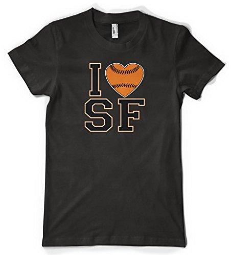 Cybertela I Love San Francisco Baseball Heart Women's T-shirt