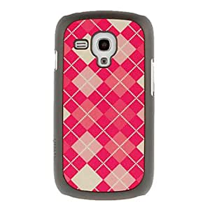 Gt Red Grid Drawing Pattern Protective Hard Back Cover Case for Samsung Galaxy S3 Mini I8190