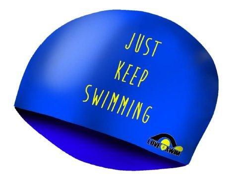 Mütze Lycra Just Keep Swimming LXS–Einzige, blau
