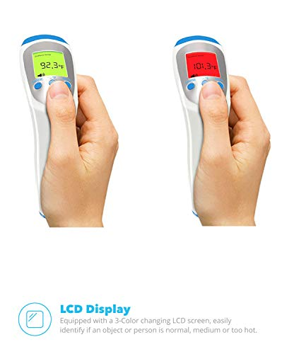 Equinox Digital Thermometer Non Contact Infrared Forehead  3Modes BodySurfaceRoom Temperature