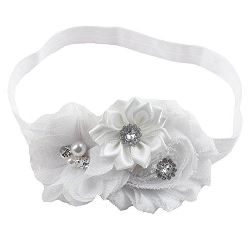 Satin Bow Headband (Miugle Baby Girls Flower Headbands Baby Hair Bows)