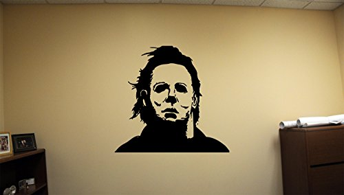 Advanced store Michael Myers Dead Horror Vinyl Wall Decals Halloween Decor Stickers Vinyl Mural