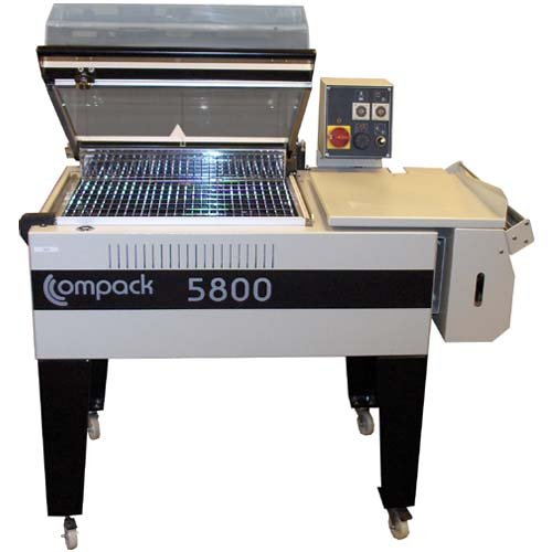 Compack 5800 L-Bar Shrink Wrap Machine & System w/ Integrated Heat Tunnel (18'' W x 22'' L x 10'' H Sealing Area) by Strategic Group