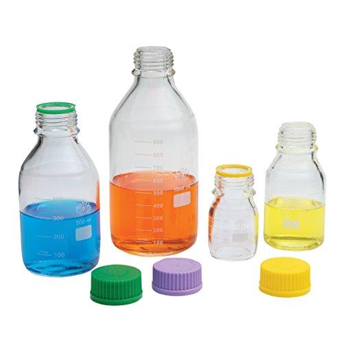 with Blue Cap and GL-45 GPI Thread Chemglass CLS-1172-5L Glass 5000mL Schott Media Storage Bottle