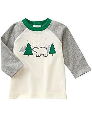 Baby Boy's Polar Bear Raglan Tee