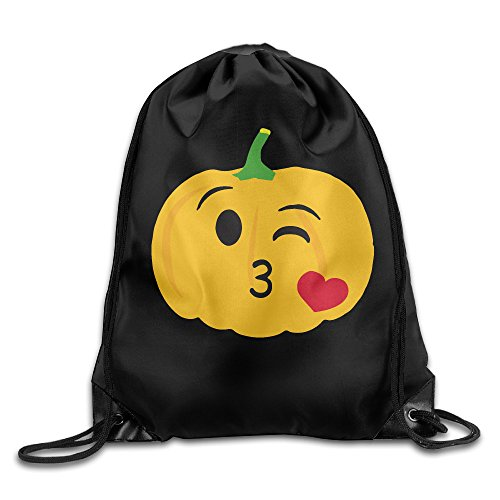 Minecraft Pumpkin Light (Unisex Halloween Pumpkin Love Drawstring Bag Drawstring Backpack Sport Bag Gym Bag 100% Polyester Material Travel Bag For Men)