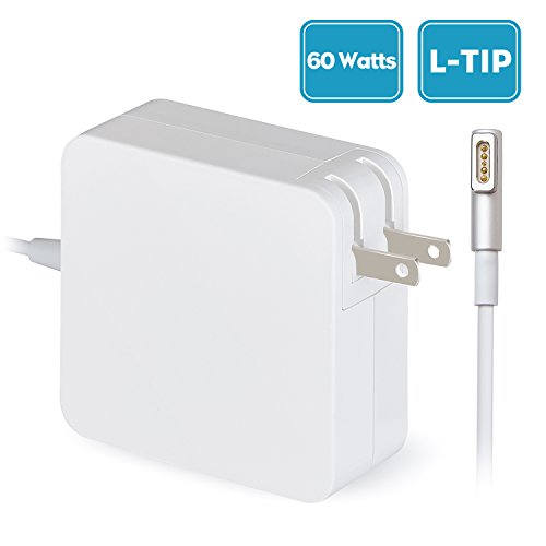 "Flyoukki L-Tip 60W MagSafe MacBook Pro Charger, Replacement Charger for MacBook Pro 13"" Models Mid 2012 and Before, Power Supply for MacBook Pro, Works with A1278,A1342,A1344,A1181,A1184,A1185 (Pro 2010 Charger Mac)"
