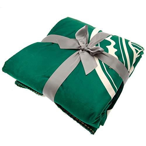 Celtic FC Sherpa Fleece Blanket (One Size) (Green)
