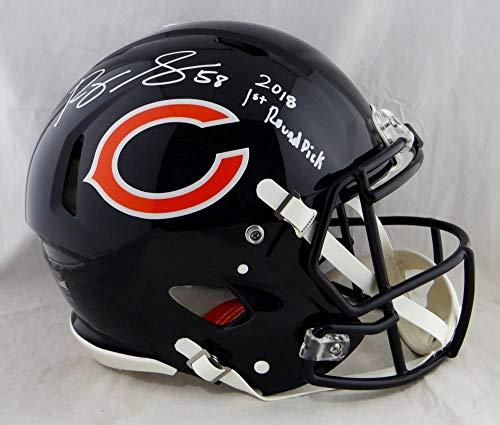 Roquan Smith Autographed Bears F/S Proline Revolution Helmet w/Insc- Beckett Auth White ()