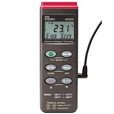 Sper Scientific 800008C Basic Type K Data logging Advanced Thermocouple Thermometer