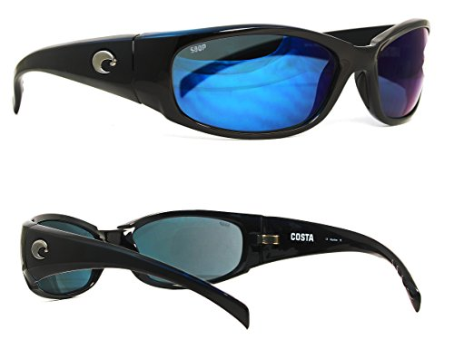 Costa Del Mar Hammerhead Sunglasses, Shiny Black/Blue Mirror 580Plastic by Costa Del Mar