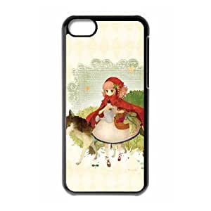 Custom Little Red Riding Hood Unique Personalized Apple Iphone 5C Hard Case Cover phone Cases Covers