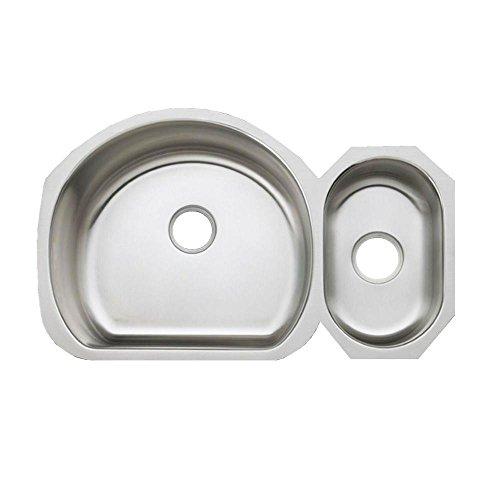 KOHLER K-3099-NA Undertone High/Low Undercounter Kitchen Sink, Stainless Steel