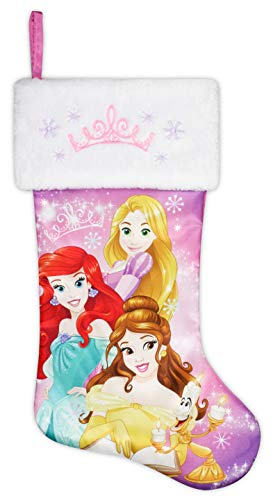 "20"" Disney Princess Holiday Stocking - Ariel, Belle, Rapunzel"