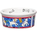 Signature Housewares Spot Dog Bowl, Large