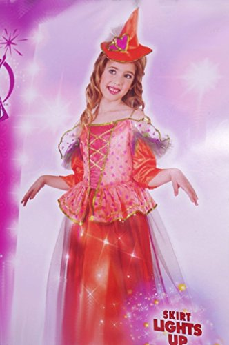 [Light Up Sweetheart Witch Costume, Medium] (Girls Light Up Witch Costume)