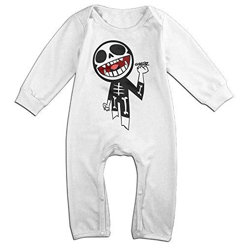 Noodle Costume Gorillaz (Mmo-J Newborn Babys Gorillaz Kull Long Sleeve Bodysuit Baby Onesie White Size 24 Months)