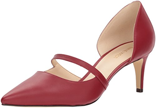 Nine West Women's Sumner Leather Pump, Red, 8 M US