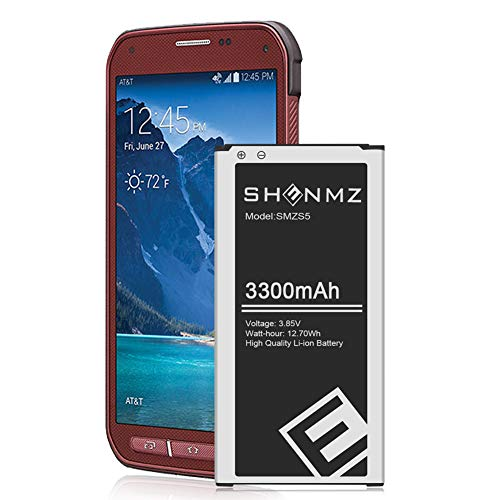 Galaxy S5 Active Battery,[Upgraded] 3300mAh Li-ion Replacement Battery for Galaxy S5 Active AT&T SM-G870A & Sport Sprint SM-G860 | S5 Spare Battery [3 Year Warranty]