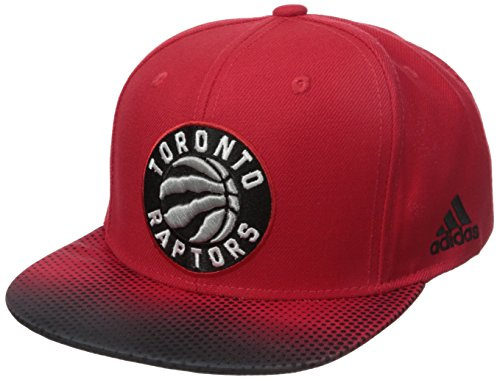 fan products of NBA Toronto Raptors Men's Tail Sweep Flat Brim Snapback Hat, Red, One Size
