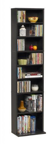 Multimedia Storage Tower Cabinet Wall Rack DVD CD Shelves
