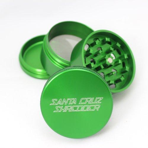 Four Santa (Medium Santa Cruz Shredder Green 4 Piece Grinder with a Cali Crusher® Pollen Press)