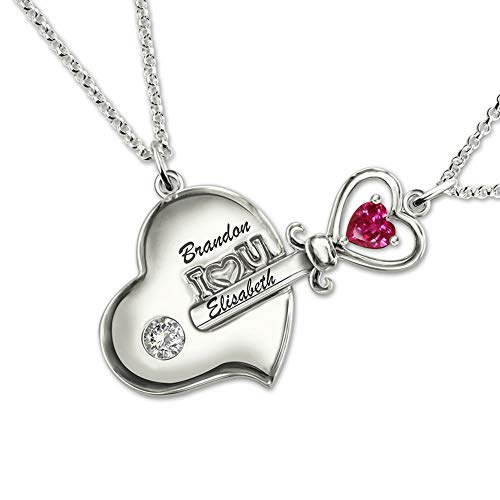 Getname Necklace Personalized Key to My Heart Couple