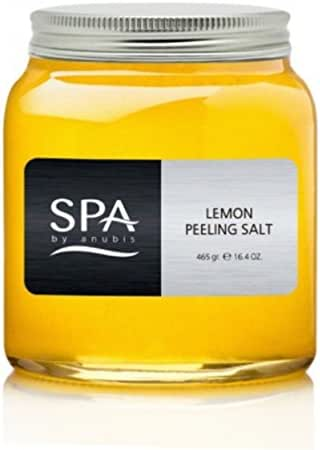Anubis Lemon Peeling Salt Body Scrub (Salon Size) 465 ml 16.4 oz