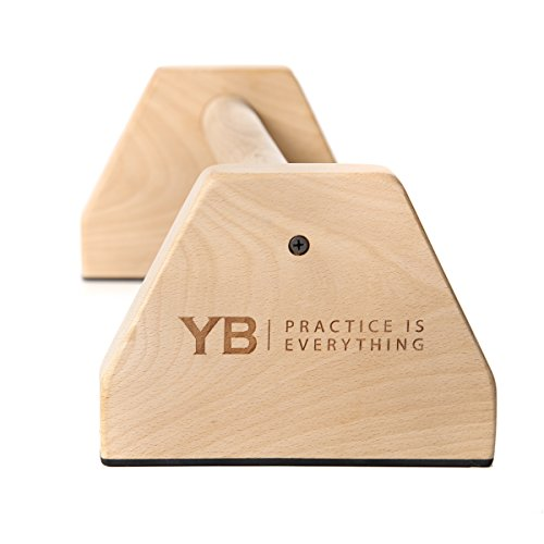 YOGABODY Birch Wood Parallettes (Set of 2) | Beautiful, Smooth, Non-Slip Yoga & Gymnastic Training Tool for L-Sits, Lolasana, Handstand Pushups, Jump Backs & More by YOGABODY (Image #6)