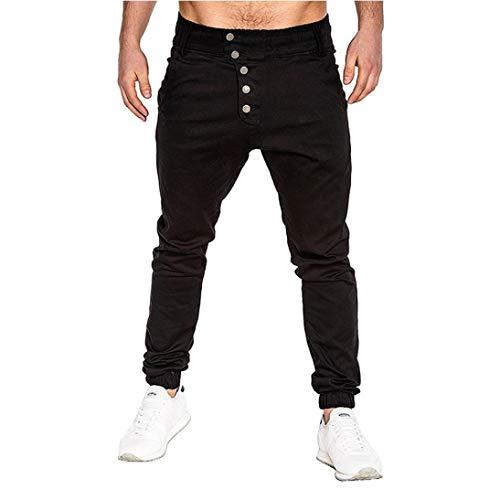 Mode Slim Schwarz De Pour Sport Longs Hommes Fit Chic Pantalons tOwFSpR6qw