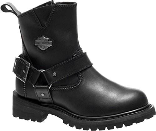 (Harley-Davidson Women's Desmet 5.25-Inch Motorcycle Boots D87152 (Black, 6))