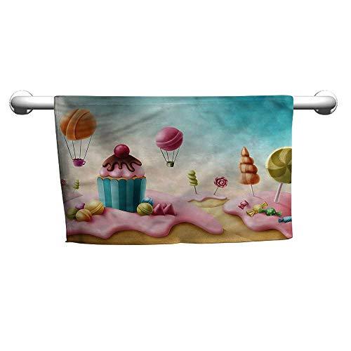 Girls Room,Fantasy Candyland Sweets,Cold Towel for Neck