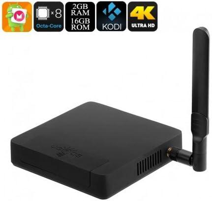 Ugoos AM3 Android TV Box - 4K, Android 6.0, Octa Core CPU, 2GB de RAM, Kodi 16.1, SPDIF, Malí GPU: Amazon.es: Electrónica