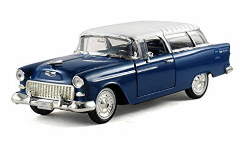 (1955 Chevy Nomad Hard Top, Blue - Arko 35521 - 1/32 Scale Diecast Model Toy Car)