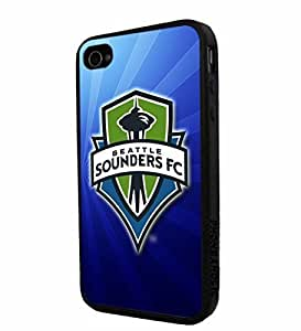 diy zhengSoccer MLS Seattle Sounders FC Logo, Cool Ipod Touch 5 5th / Smartphone iphone Case Cover Collector iphone TPU Rubber Case Black