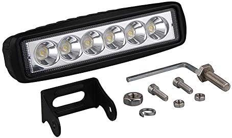 paquete de 10 SKYWORLD 6 pulgadas 15.2cm 18W Spot LED barra de luz de trabajo que conduce luces de niebla para un autom/óvil todoterreno 4WD cami/ón tractor tractor remolque 4x4 SUV ATV