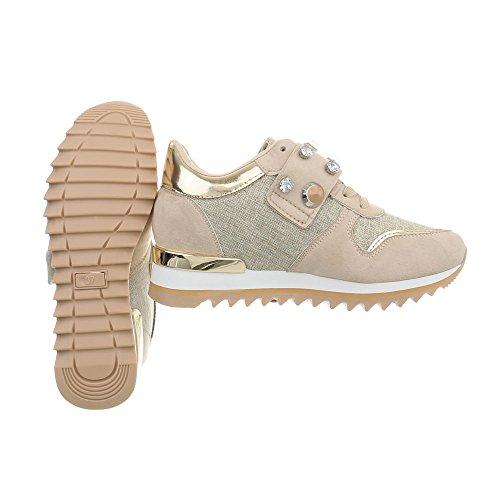 Zapatillas Plataforma Mujer Beige Design 126 Altas Zapatos Ital G Zapatillas para wxqCXnaw4Y