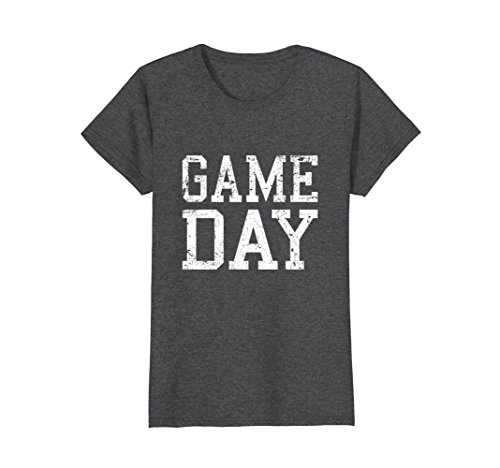 Womens Vintage Game Day T-Shirt Small Dark Heather