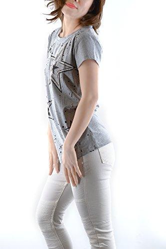 Casual CG002 Top Art Tenerezza D8158 Multiplo Eleganti T Giovane Donna Autunno Shirt Grigio Ufficio Abbino Signore Sale Fascino Primavera Estate Nuova Shirts Colori Collezione Sexy Moda Donne Ragazza Libero TqEwdwWp