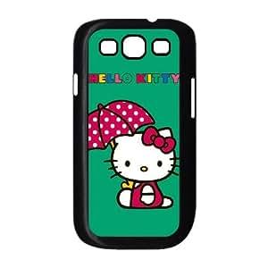Hello Kitty Polka Dot Umbrella Samsung Galaxy S3 9300 Cell Phone Case Black&Phone Accessory STC_143111