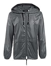 Coofandy Men's Raincoat with hood Waterproof Rain Jacket