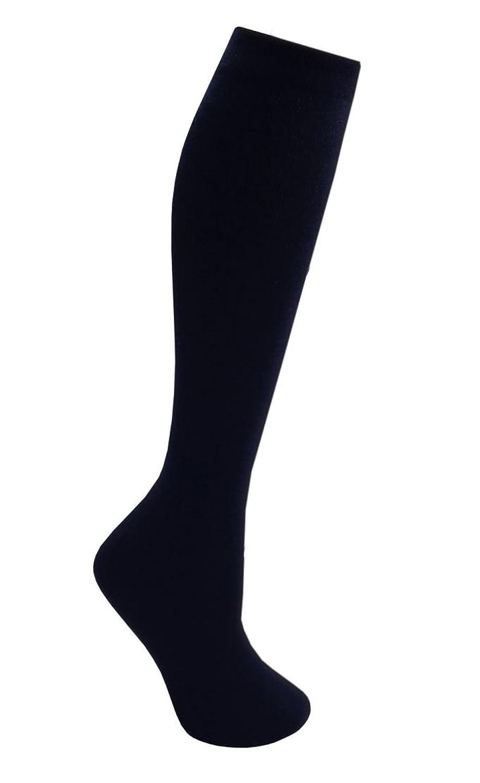 12 paires pour enfants/Kids unisexe chaussettes haute de genou riches en coton élasthanne, retour à l'école chaussettes, marine 4/6,5