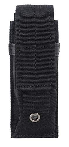 AccessoryHappy Premium Outdoor Hunting Tactical Holster Fast Mag Carry Pouch MOLE System fits Single Pistol Magazine, Knife, Flashlight, EDC Organizer Pouch EMT Mini Scissor Tool Pouch (Black)