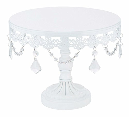 10-Inch WHITE CAKE STAND Round Metal Wedding Event Party Display Pedestal Tower Plate from Unknown